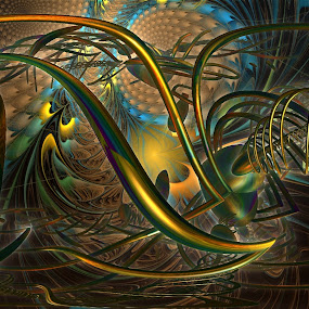 Fragment Of Sinister Shapes by Rick Eskridge - Illustration Abstract & Patterns ( abstract, jwildfire, mandelbulb3d, twisted brush, shapes )
