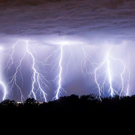 BUM BUM BUM by Klemen Bandelj - Landscapes Weather ( lightning, summer, night, storm, stack )