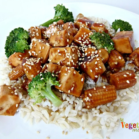 Tofu and Broccoli over Rice – #glutenfree