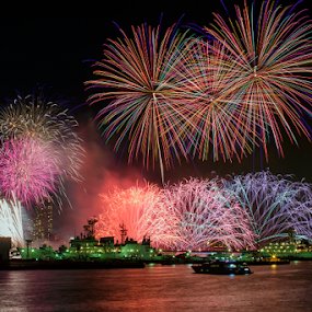 Firework#2 by Nyoman Sundra - City,  Street & Park  Night ( park, fireworks, night, yokohama, city )