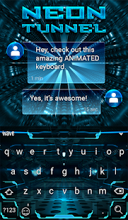 Tunnel Animated Keyboard - screenshot