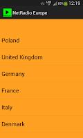 Screenshot of NetRadio Europe