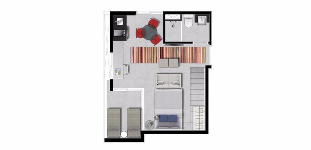 Planta Duplex Inferior 53 m²