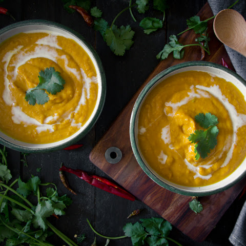 Thai Pumpkin and Sweet Potato Soup