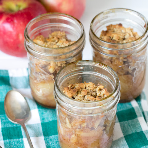 Honey Almond Apple Crisps in Jars
