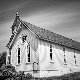 Bay View United Methodist  by Todd Reynolds - Black & White Buildings & Architecture