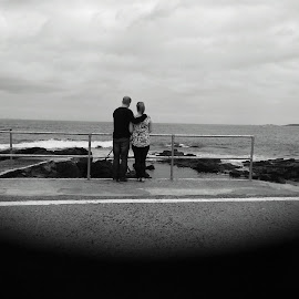 love by Matthew Barr - People Couples ( love, black and white, sea, couple, view )