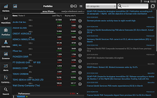 Screenshot of StockMarkets
