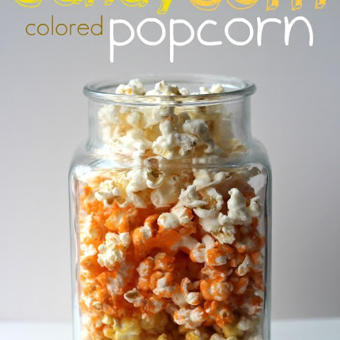 Candy Corn Colored Popcorn