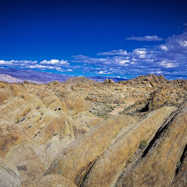 Alabama Hills by Lisa Wellott - Landscapes Mountains & Hills ( alabama hills, blue sky, lone pine, california, rock formation )
