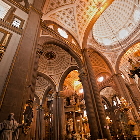 Puebla Cathedral by Cristobal Garciaferro Rubio - Buildings & Architecture Places of Worship