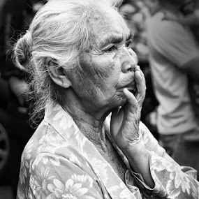 Old woman by Herry Wibowo - People Portraits of Women