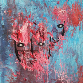 DEFORMED FACES by Zoritza  Wejnfalk - Painting All Painting ( modern art, surreal art, abstract art, zoritzasart )