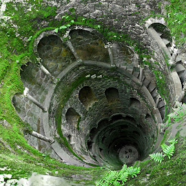 Spiral well by Oleksii Liebiediev - Buildings & Architecture Other Exteriors ( whirl, arch, pool, sintra, well, spiral,  )