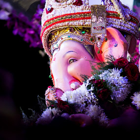 Lord Ganesha by Umed Jadeja - Abstract Macro ( ganpati god )