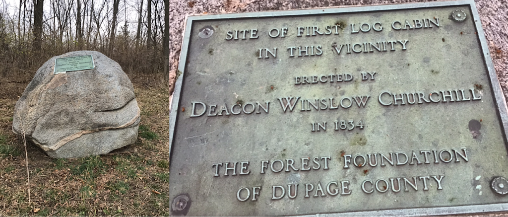 The plaque is located just off st. Charles Road in a small clearing. The rock is easily visible from the road. Since there is no trail through the surrounding woods, the only way to reach the plaque ...