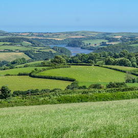 Fowey Valley  by Jolyon Vincent - Landscapes Mountains & Hills