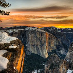 Crocker Point by Walter Hsiao - Landscapes Mountains & Hills ( yosemite valley, el capitan, crocker point )