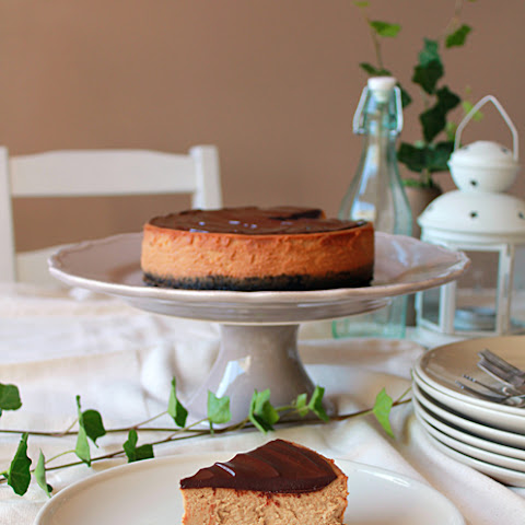 Espresso Cheesecake with Chocolate Ganache
