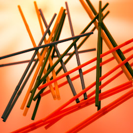 Straw by Marcus Schanberg - Abstract Patterns ( #diffrentcolor, #light, #color, #colorful, #straw )