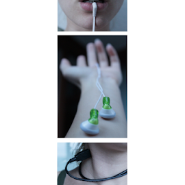 Pluged in by Katarina Vrhovac - People Body Parts ( hand, music, cable, lips, head )