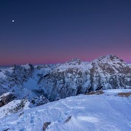 Blue hour  by Bor Rojnik - Landscapes Sunsets & Sunrises ( national park, blue, slovenia, hour, sunrise, morning, alpine, alps )