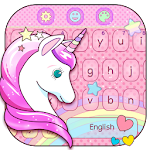 Cute Unicorn Keyboard Theme Icon