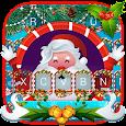 Live Christmas Santa Keyboard Theme