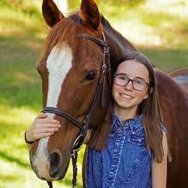 Best Friends by Giselle Pierce - Babies & Children Children Candids ( horse, girl, friends )