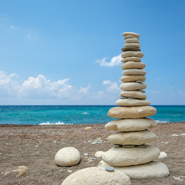 Balance by Theodoros Theodorou - Nature Up Close Rock & Stone ( sand, stack, pebbles, x-t1, 16mm f1.4 r wr, fujinon, cairn, beach, fujifilm, cyprus )