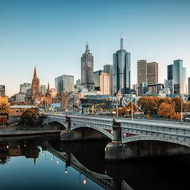 Melbourne city skyline from Princes Bridge by Zubair Aslam - City,  Street & Park  Skylines ( picturesnme, picturesnme.com )