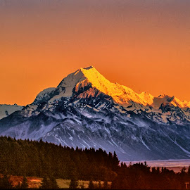 Mt.Cook by Stanley P. - Landscapes Mountains & Hills ( mountains, rock, sunrise, landscapes )