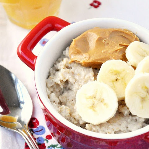 Peanut Butter & Banana Oatmeal Breakfast Recipe for National Peanut Butter Lover's Day