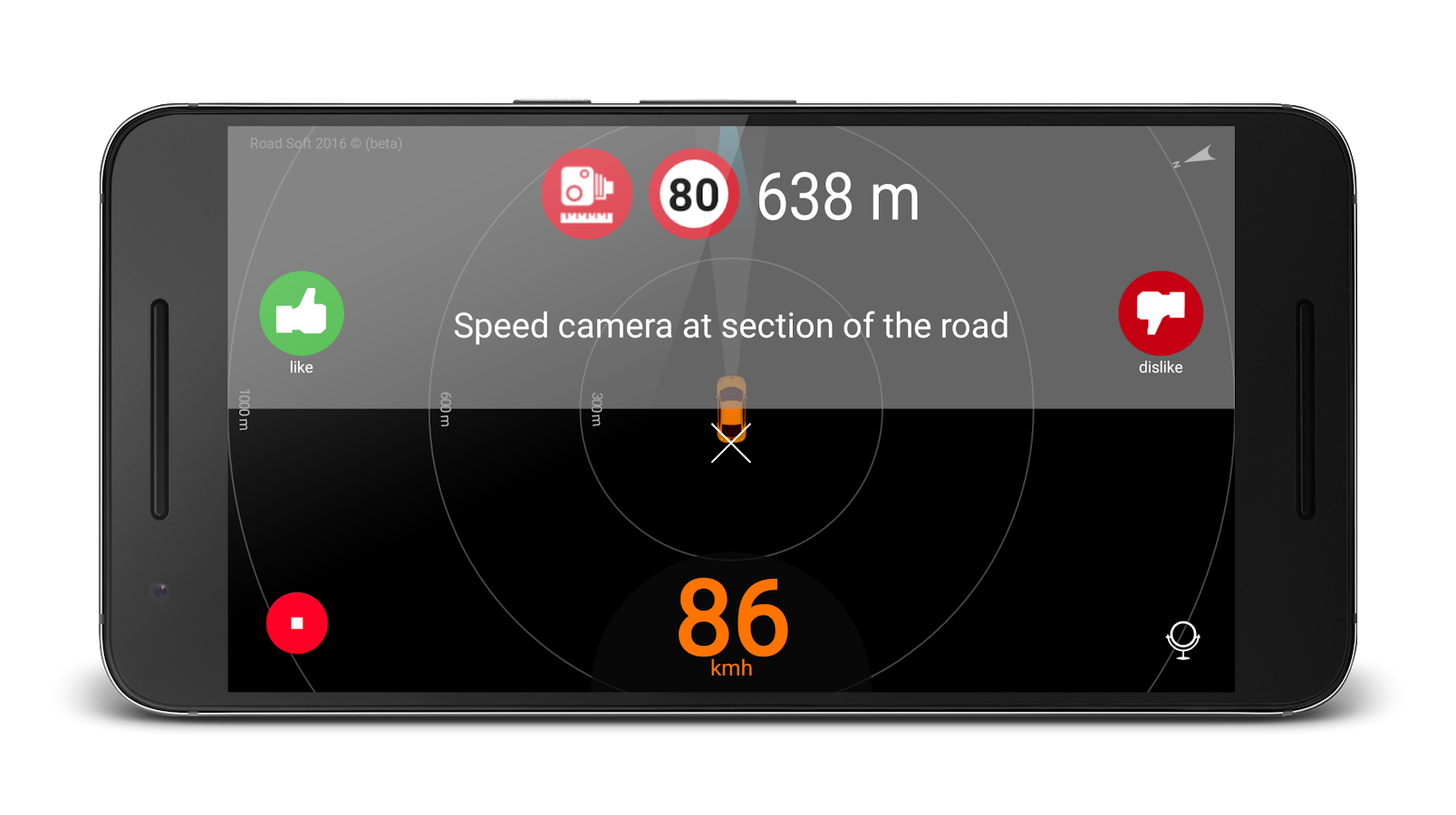 Speed camera radar (PRO) Screenshot 0