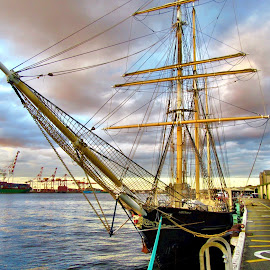 Sail ship in dock in Fremantle  by Kim Storey - Instagram & Mobile iPhone