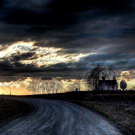 The Road to Glory by Scott Bryan - Landscapes Sunsets & Sunrises ( clouds, sky, ohio, sunset, glory, road, landscape, rural )