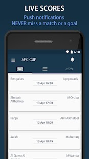 Livescore for AFC Cup Pro - screenshot