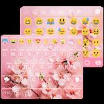 Pink Spring Emoji Keyboard Live Wallpaper Icon