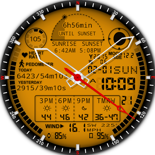 A48 WatchFace for Android Wear - screenshot