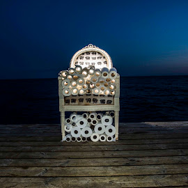 Chair by Staffan Håkansson - Digital Art Things ( toiletpaper, chair, sky, horizon, bridge, rapsbollen )