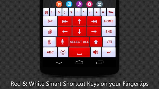 Red White Keyboard - screenshot