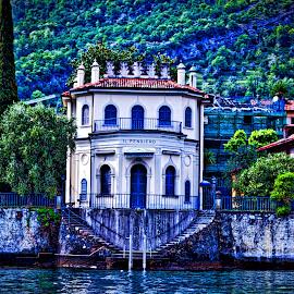 Villa in Lake Como by Jim Antonicello - Buildings & Architecture Architectural Detail ( villa, lake como, italy )