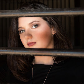 Behind the bars by April Sadler - People Portraits of Women ( #teen #woman#bars#portrait@model#beauty )