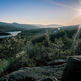 Sunset Rock by Tom Moors - Landscapes Mountains & Hills ( sunset rock, catskills, new york )