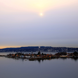 Island village near Oslo by Athar Jaskani - Landscapes Waterscapes ( oslo, island )
