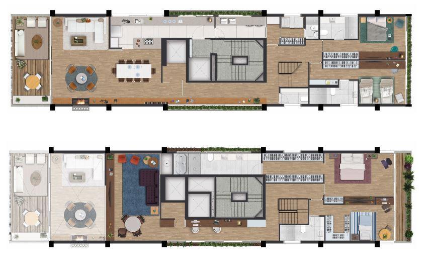 Planta Tipo - 4º / 6º / 8º andar - 321 m²