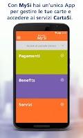 Screenshot of MySi di CartaSi