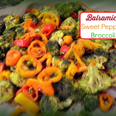 Balsamic Sweet Pepper Broccoli