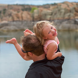 Daddy Love by Beth Staub - People Family ( love, water, dad, girl, daddy, family, daughter, baby girl, summer, fun )