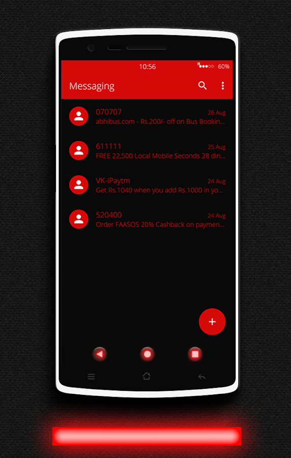 Glow Red CM13 CM12/12.1 Theme Screenshot 17